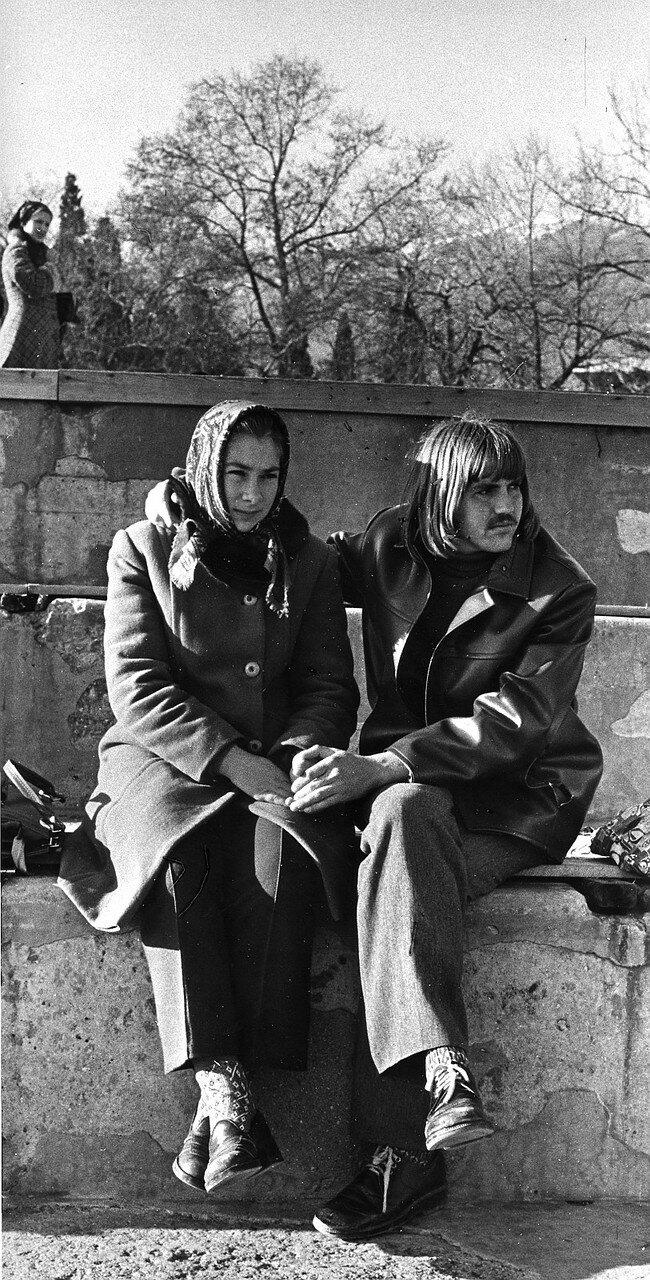 1973. Ялта. Пара на набережной
