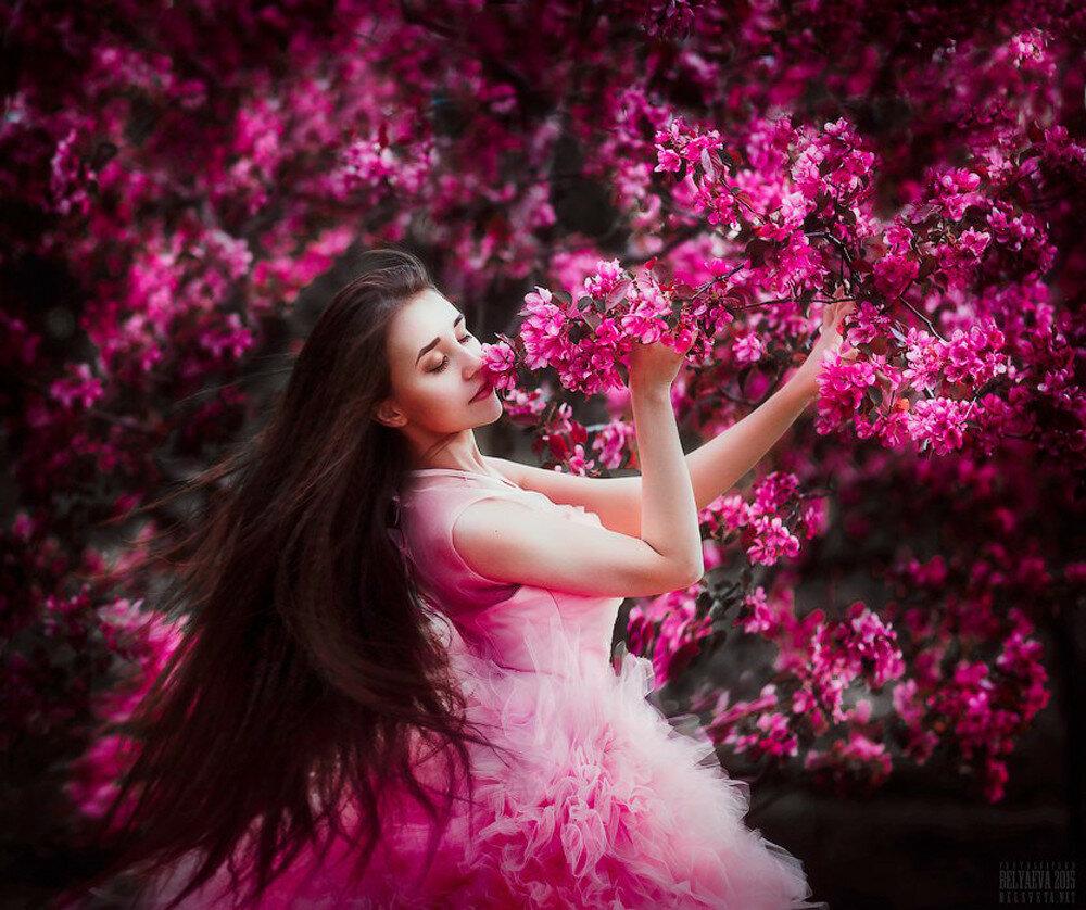 Девушка цветение сад скачать