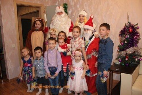 Новогоднее фото на память с детьми Тольятти