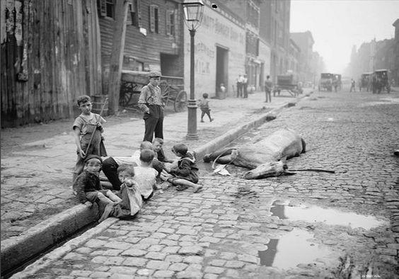 Нью-Йорк, начало 1900х годов