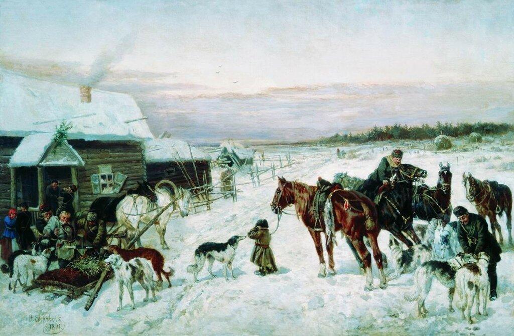 У кабака зимой. 1891.jpg