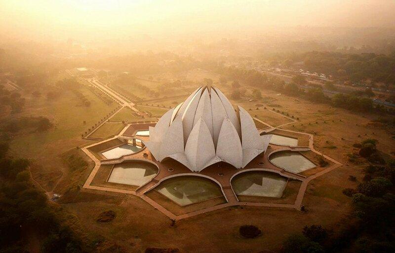 Храм Лотоса в Индии (фото с помощью беспилотника)
