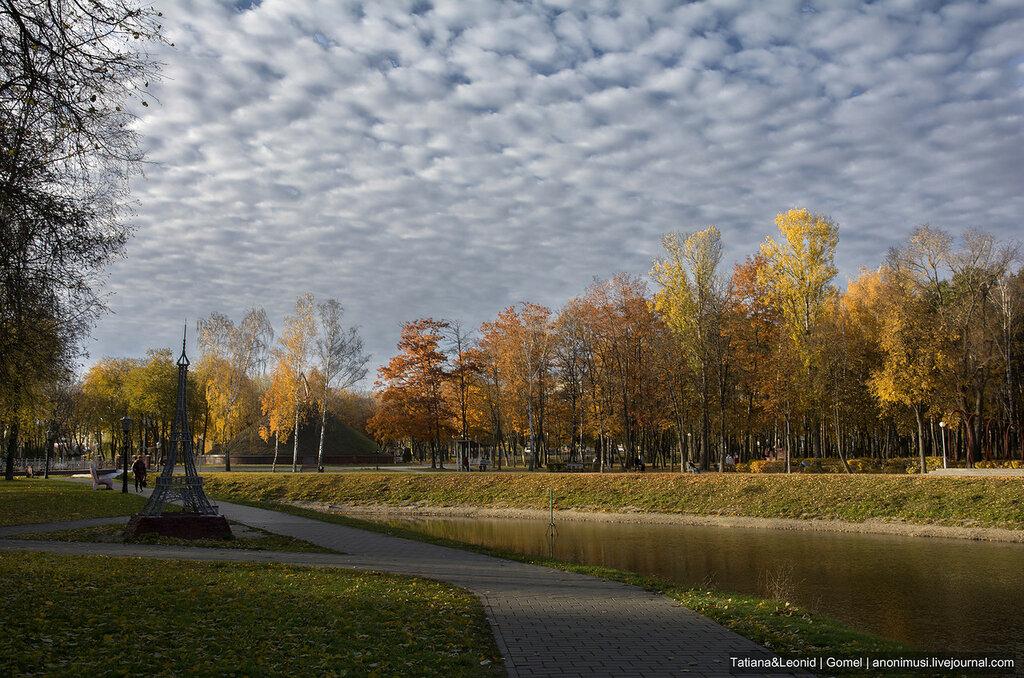 Осень в сквере Фестивальный. Гомель
