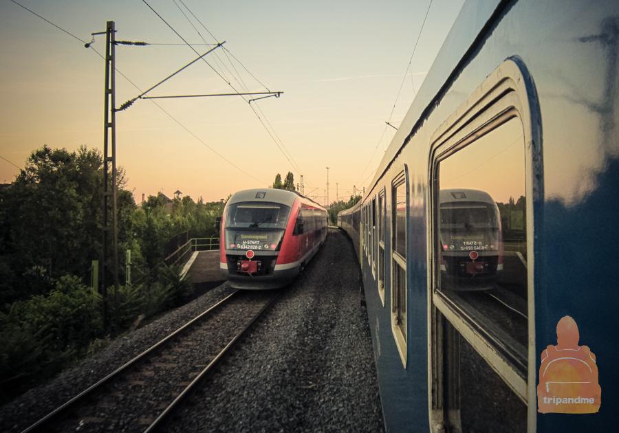 Из Будапеште в Вишеград поезд идет около часа