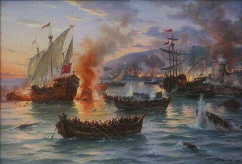 Морской и речной флот украинских казаков в 15 16 веках