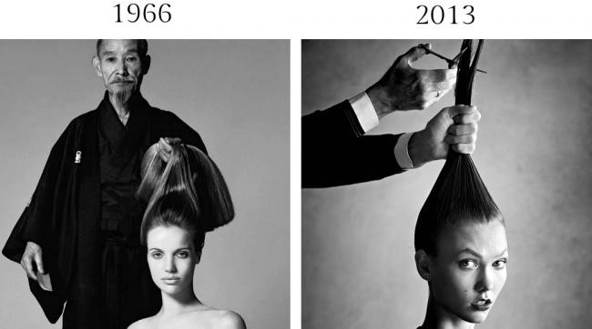 26страниц октябрьского номера Vogue 1966 года были посвящены путешествиям Верушки поЯпонии насамо
