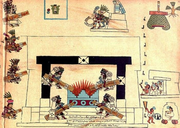 Ацтеки считали, что мир должен погибнуть через каждые 52 года, если они не сохранят его в ходе жутко