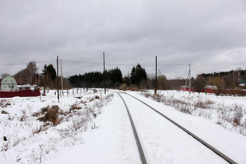 Перегон Белый городок - Калязин пост, участок Белый городок - 151 км, переезд возле моста