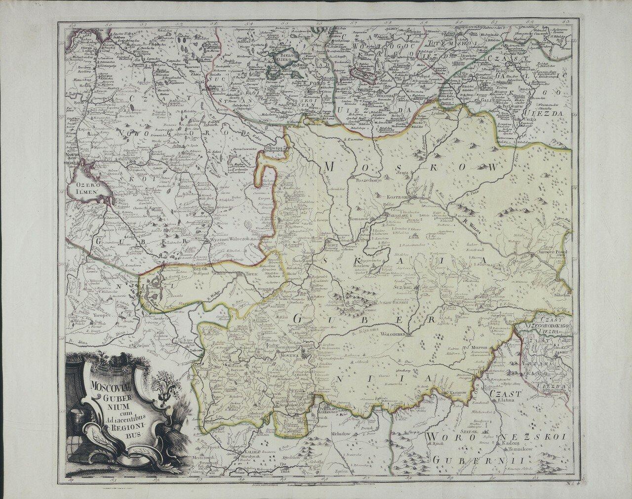 1745. Московская губерния с соседними областями
