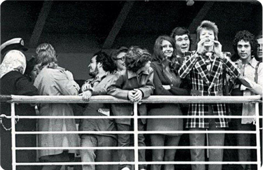 1973. Дэвид Боуи на борту «Феликса Дзержинского»