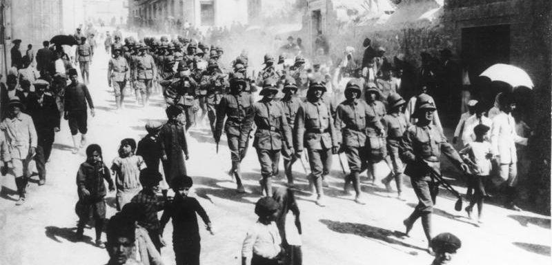 Deutsche Soldaten in Jerusalem