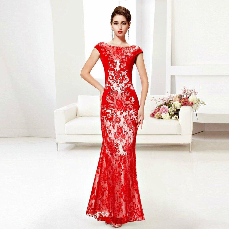 Дизайн красное гипюровое короткое платье фото