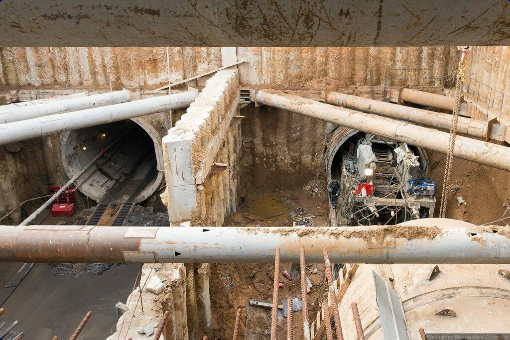 Перегонные тоннели в сторону станции «Ходынское поле»