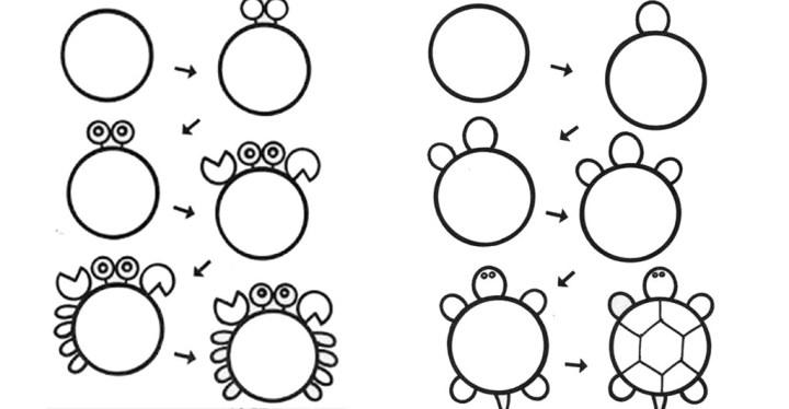 Схема рисования животных для малышей Уроки-схемы