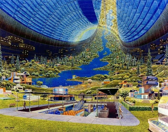 Представление о космических станциях будущего в 1970-х годах