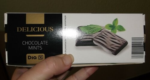 Шоколад с мятной начинкой