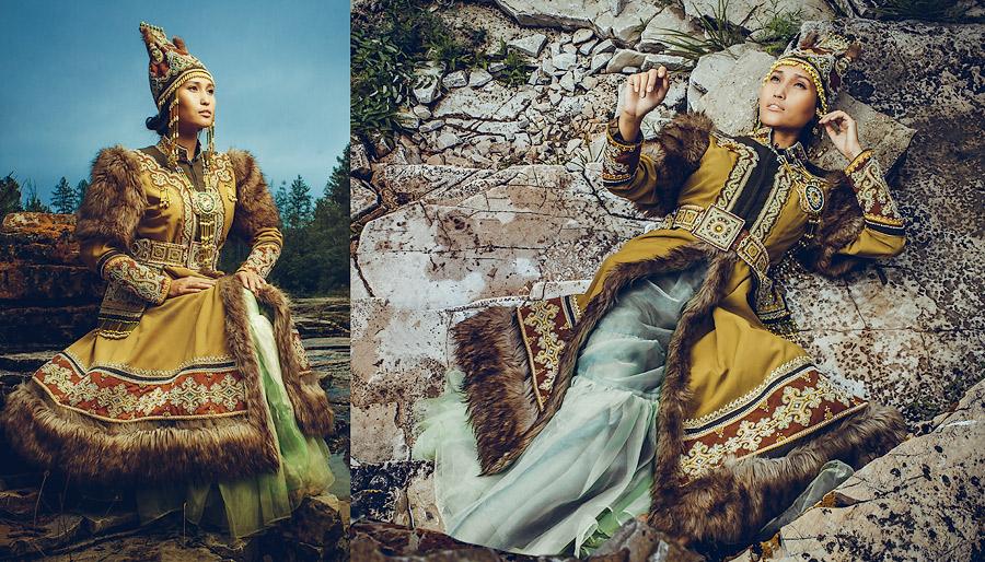 Камлающая с ножницами. Якутский модельер Августина Филиппова / Avgustina Filippova