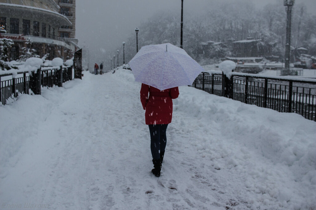 Роза Хутор-снег