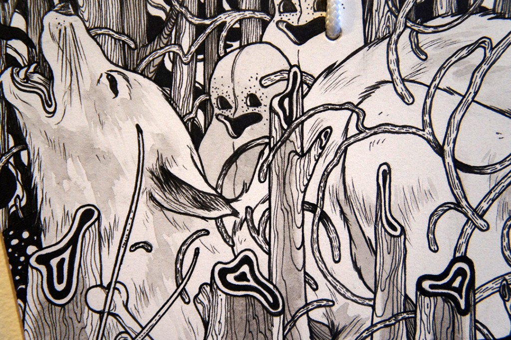 My art for the Ema show reflects creatures in the natural world.. if not outright, but what I imagin