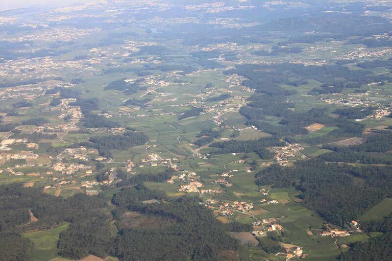 Португалия с самолета (Portugal, view from airplane)