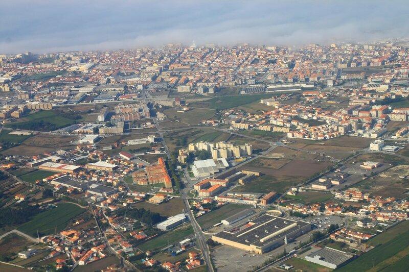 Порту с самолета (Porto view from the airplane)