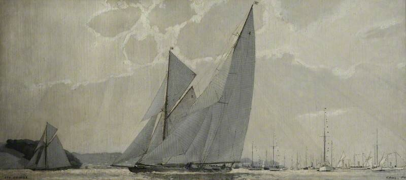 Off Cowes, 1923: The Yachts 'Britannia', 'Terpsichore' and 'Ilyrica'