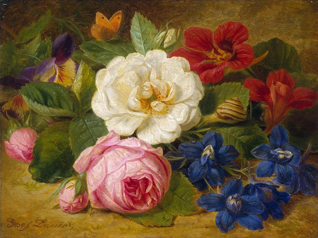 Лаунер Иозеф, Букет цветов с улиткой, Эрмитаж