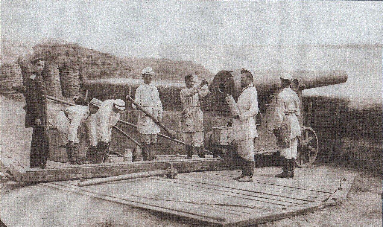 08. Русская батарея на позиции у Корабии. Румынский берег, июнь 1877