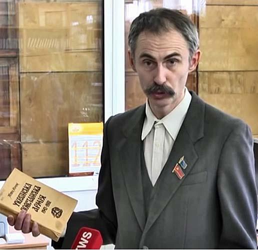 """""""ДОЦЕНТ"""" Юлий Федоровский с книгой, Луганск"""