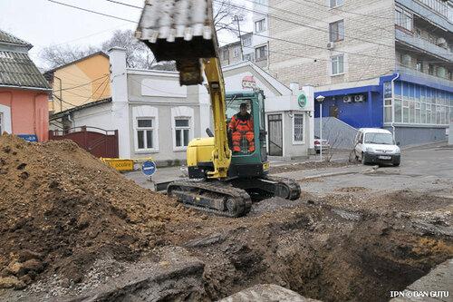 В Кишинёве прорыв водопровода из-за низкой температуры