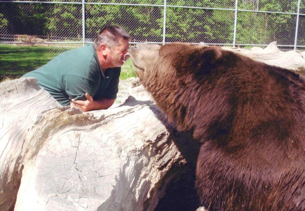 Дружба человека и 700-килограммового медведя