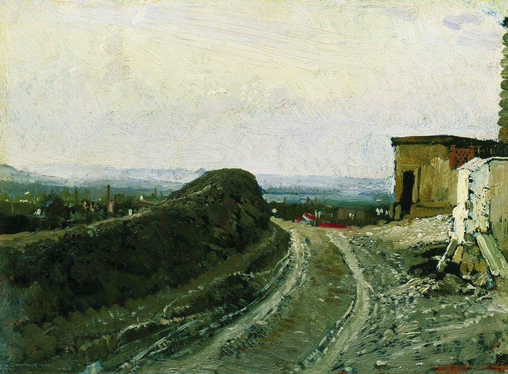 Дорога на Монмартр в Париже. 1875-1876.jpg