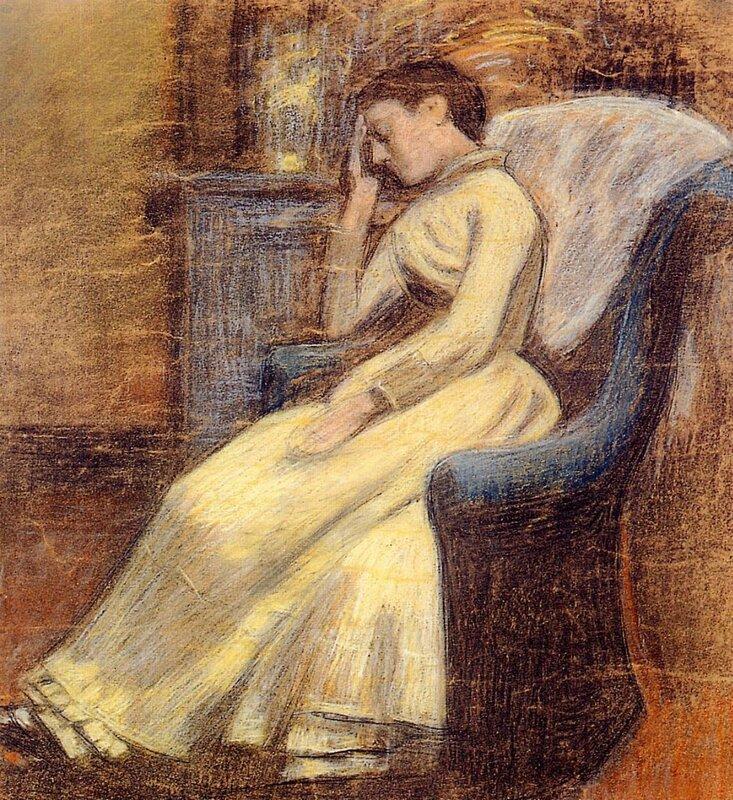 JULIE LEMMEN SLEEPING IN AN AR/MCHAIR  Жорж Леммен