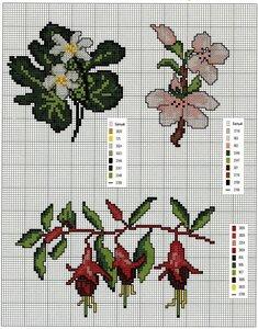Вышивка крестиком.Цветы (из альбома alyona.merletto)