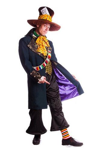 Мужской карнавальный костюм Безумный  Шляпник
