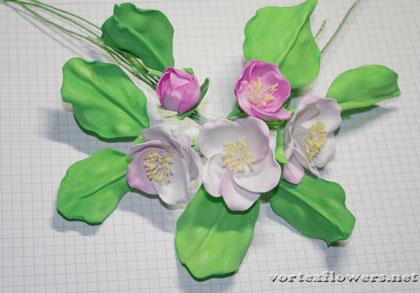 яблоневый цвет из фоамирана