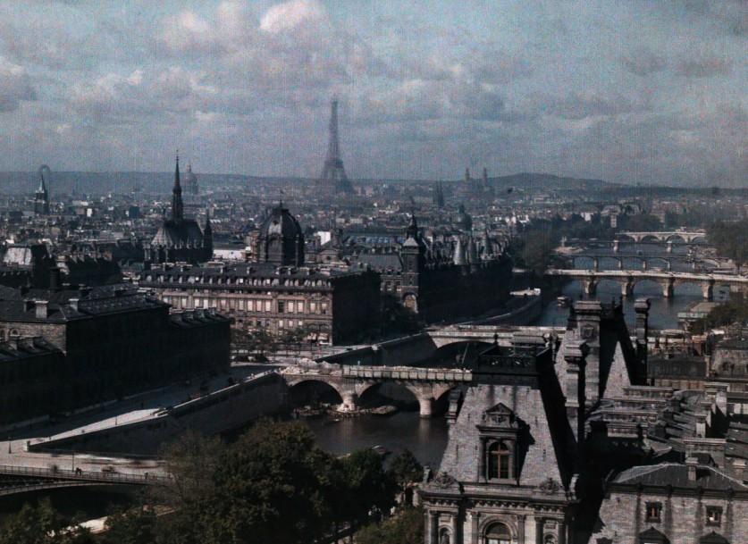 Париж, вид из церкви Сен-Жерве.