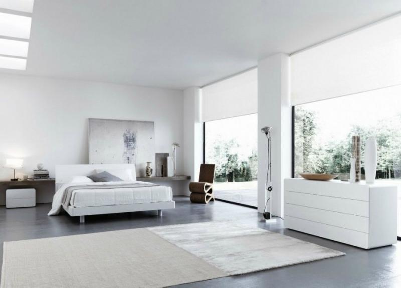 Белый цвет в интерьере спальни фото (8)