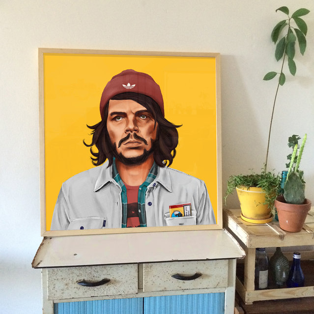 Hipstory: Che Guevara portrait displayed. (Photo by Amti Shimoni/Caters News)