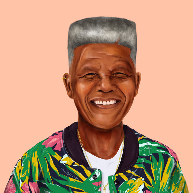 Hipstory: Street chic Nelson Mandela. (Photo by Amti Shimoni/Caters News)