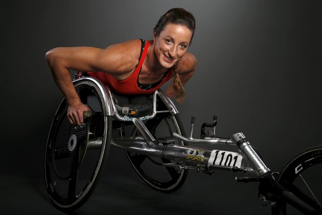 Paralympic track & field competitor Tatyana McFadden poses for a portrait at the U.S. Olympic Commit