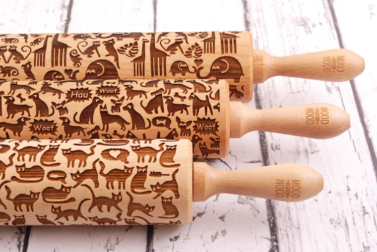 Mood for Wood – Beautiful laser engraved rolling pins with delicate patterns (27 pics)