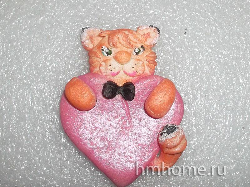 Валентинка-магнит Влюблённый кот