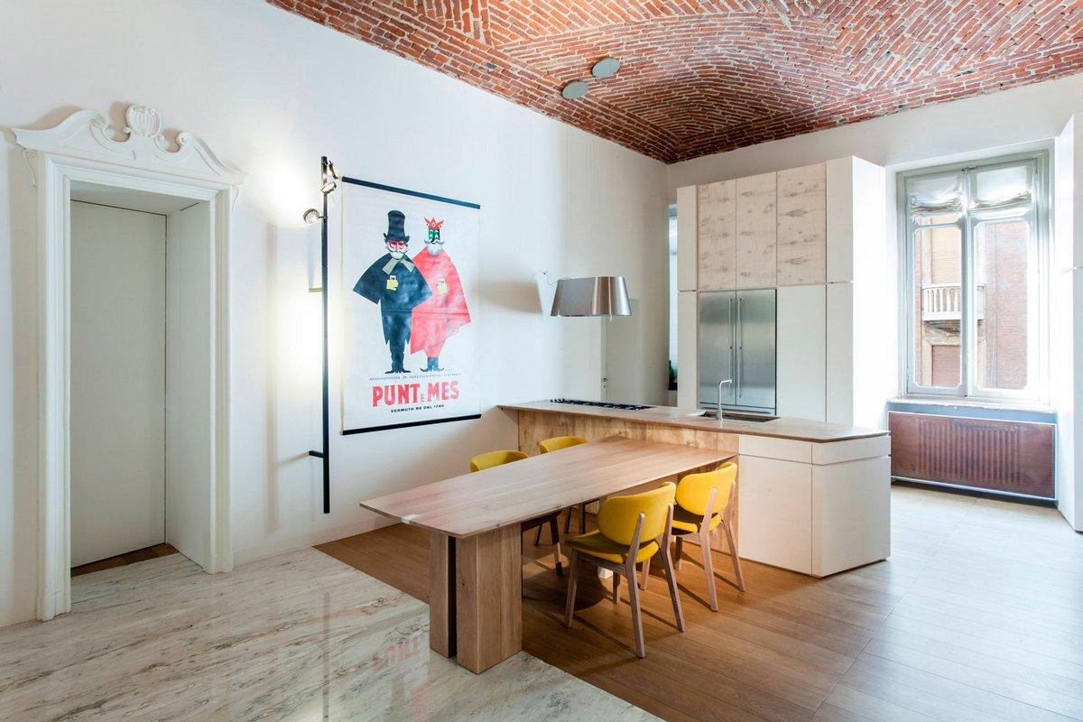deamicisarchitetti, River Apartment, квартиры в Италии фото, стильный интерьер квартиры фото, классический интерьер квартир фото, апартаменты в Турине