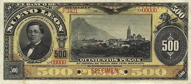Мексика, 500 песо, 1914