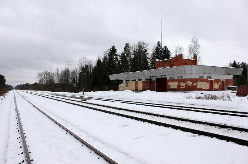 Вокзал на станции Белый городок