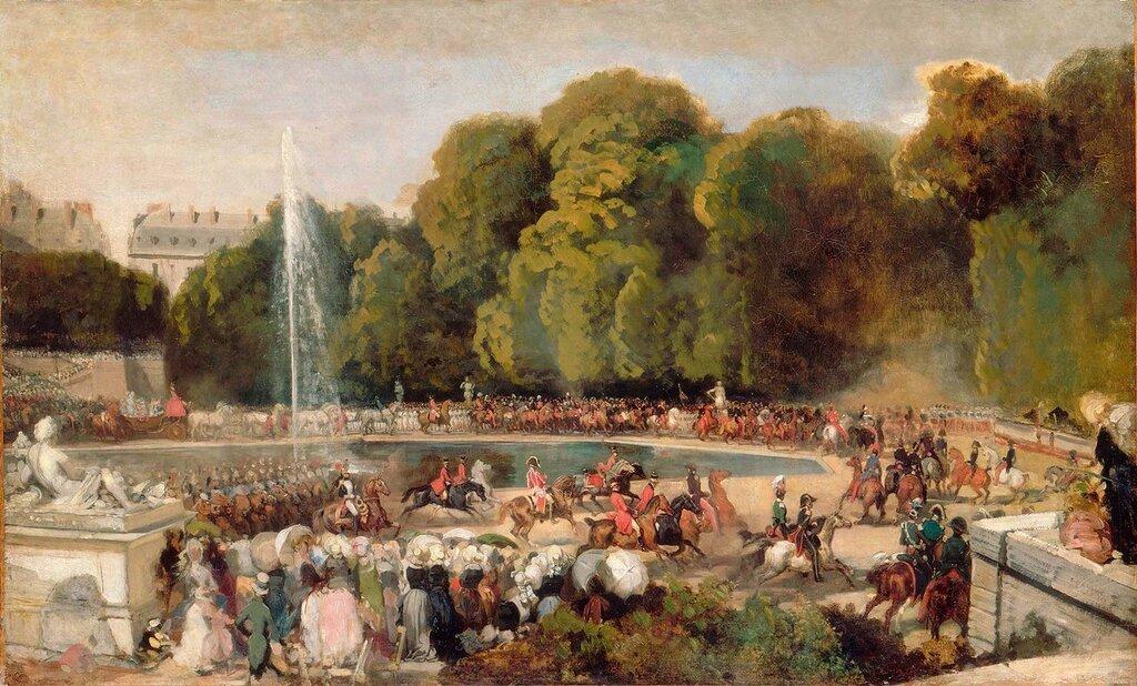 Въезд невесты герцога Орлеанского в Тюльерийский сад<br /> Lami EugËne (1800-1890)<br /> Paris, musÈe du Louvre
