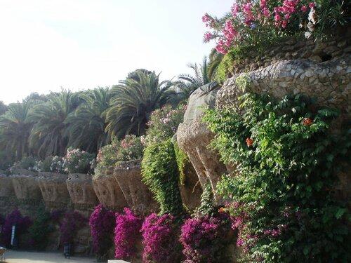 Испания, Барселона. В парке Гуэля