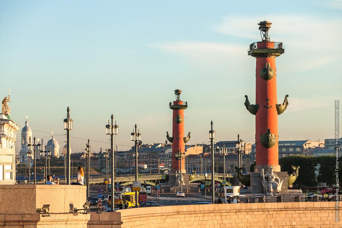 Санкт-Петербург Ростральные колонны