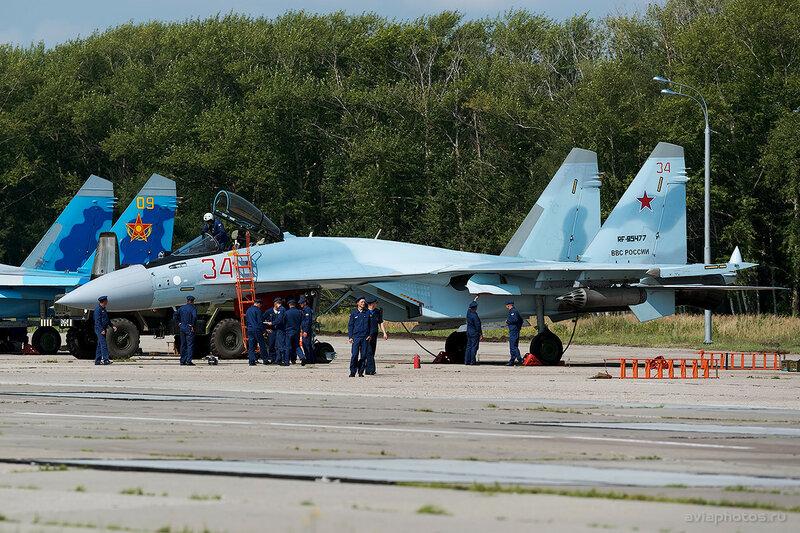 Сухой Су-35С (RF-95477 / 34 красный) ВКС России 0070_D805482